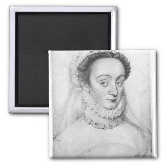 Retrato de la dama de Charlotte de Beaune Imán Cuadrado