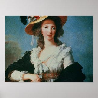 Retrato de la duquesa de Polignac Poster