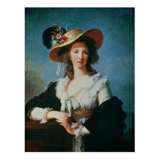 Retrato de la duquesa de Polignac Postal