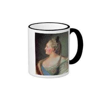Retrato de la emperatriz Catherine II el grande Tazas
