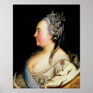 Retrato de la emperatriz de Elizabeth Petrovna Póster