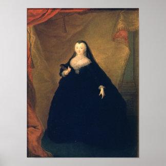 Retrato de la emperatriz Elizabeth en vestido de l Póster