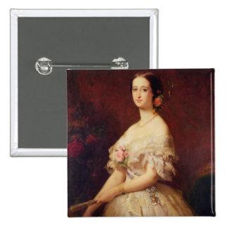 Retrato de la emperatriz Eugenie 1854 Pin Cuadrado