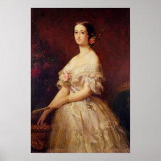 Retrato de la emperatriz Eugenie 1854 Póster