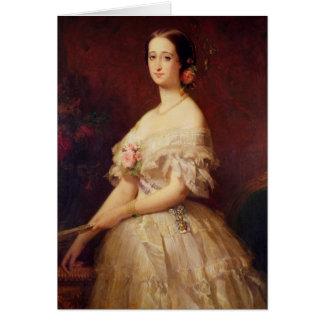 Retrato de la emperatriz Eugenie 1854 Tarjeta De Felicitación