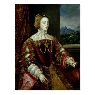 Retrato de la emperatriz Isabel de Portugal Postales