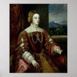 Retrato de la emperatriz Isabel de Portugal Póster