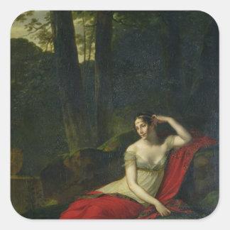 Retrato de la emperatriz Josephine, 1805 Pegatinas Cuadradas Personalizadas