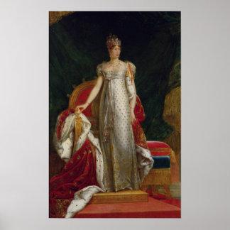 Retrato de la emperatriz Marie Louise de Francia Póster
