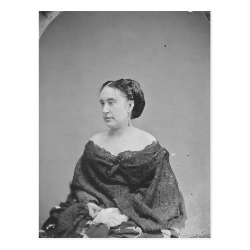 Retrato de la era de la guerra civil de una mujer  postal