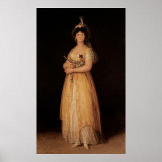 Retrato de la esposa de la reina Maria Luisa del r Poster