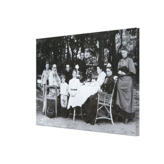 Retrato de la familia autor del Leo N. Tolstoy Impresiones En Lona Estiradas