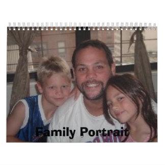 Retrato de la familia calendarios