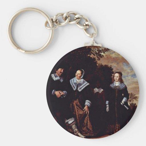 Retrato de la familia con cinco personas de Franci Llavero Redondo Tipo Pin