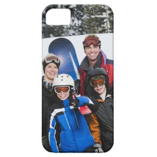 Retrato de la familia con las snowboard funda para iPhone SE/5/5s
