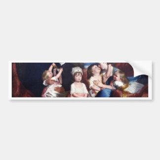 Retrato de la familia Copley de Copley John Single Etiqueta De Parachoque