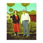 Retrato de la familia de Colorized Impresion De Lienzo