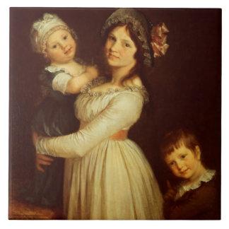 Retrato de la familia de la señora Anthony y sus n Azulejo Cuadrado Grande