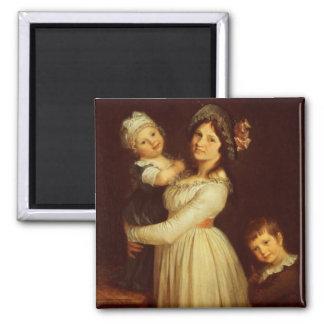 Retrato de la familia de la señora Anthony y sus n Iman Para Frigorífico