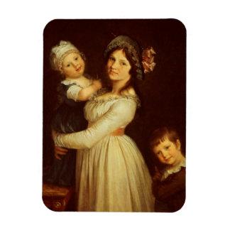 Retrato de la familia de la señora Anthony y sus n Iman Flexible