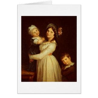 Retrato de la familia de la señora Anthony y sus n Tarjeta De Felicitación