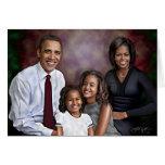 Retrato de la familia de Obama Tarjeton