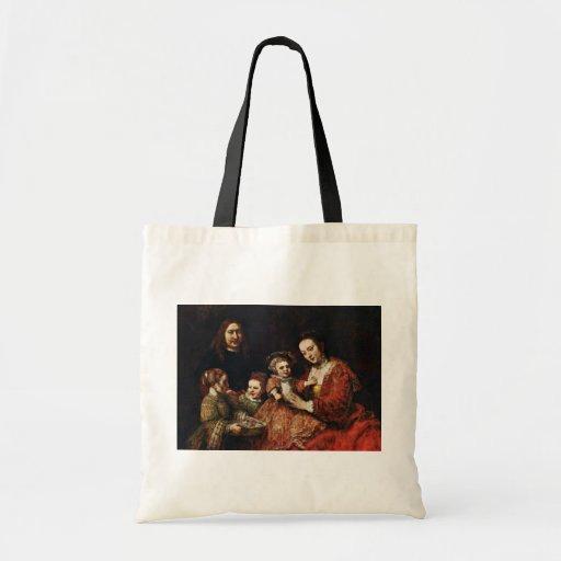 Retrato de la familia de Rembrandt Harmenszoon Van Bolsas