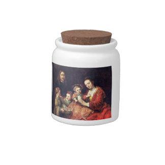 Retrato de la familia de Rembrandt Harmenszoon van Platos Para Caramelos