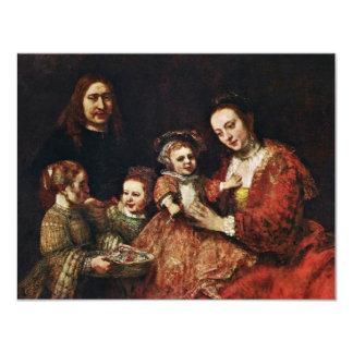 Retrato de la familia de Rembrandt Harmenszoon Van Invitaciones Personales