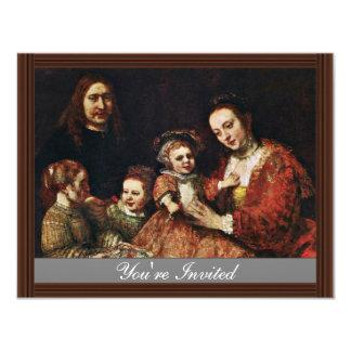 Retrato de la familia de Rembrandt Harmenszoon Van Comunicado