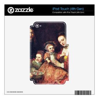 Retrato de la familia de Rembrandt Harmenszoon van iPod Touch 4G Skins
