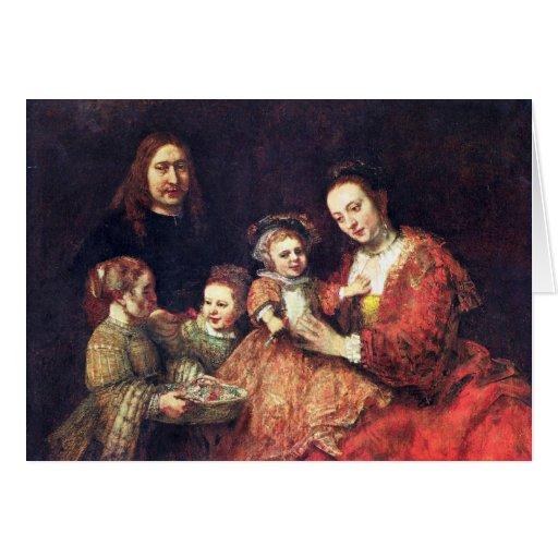 Retrato de la familia de Rembrandt Harmenszoon van Felicitación