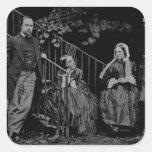 Retrato de la familia de Rossetti, 1864 Calcomanías Cuadradas