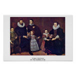 Retrato de la familia de Vos Cornelio De Posters