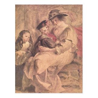 Retrato de la familia del artista de Paul Rubens Tarjeta Postal