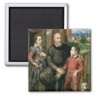 Retrato de la familia del artista Minerva Imán Para Frigorifico