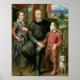 Retrato de la familia del artista, Minerva Poster