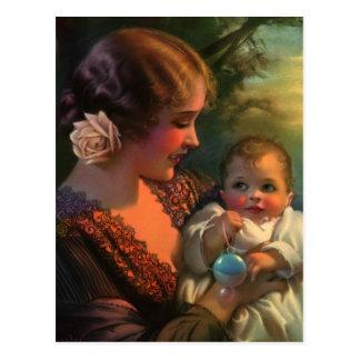 Retrato de la familia del día de madre del vintage tarjetas postales
