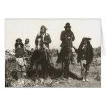 Retrato de la familia extensa tarjetón