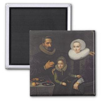 Retrato de la familia imanes para frigoríficos