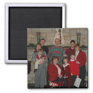 Retrato de la familia imán para frigorifico