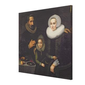 Retrato de la familia impresiones en lona