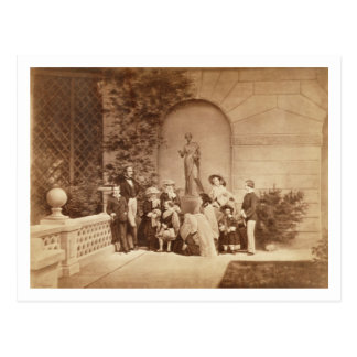Retrato de la familia real en la casa de Osborne, Postal