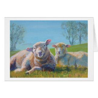 Retrato de la familia tarjeta de felicitación