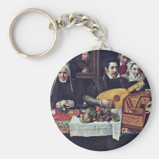 Retrato de la familia Van Berchem By Floris Franci Llavero Personalizado