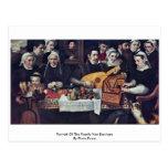 Retrato de la familia Van Berchem By Floris Franci Tarjetas Postales