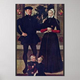 Retrato de la familia Van Gindertaelen By Meister Poster