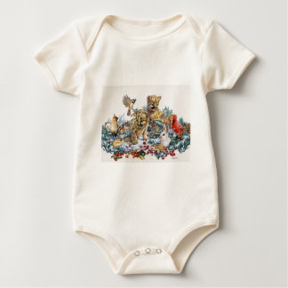 Retrato de la fauna joven de la naturaleza mameluco de bebé