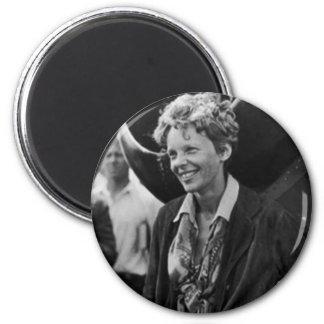 Retrato de la foto de Amelia Earhart del vintage Iman Para Frigorífico