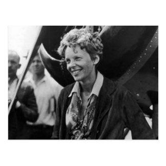 Retrato de la foto de Amelia Earhart del vintage Postales